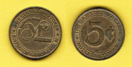 U.S.A.   MAJESTIC STAR CASINO---GARY INDIANA---5c TOKEN (T-84) - Casino