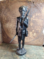 Ancienne Sculpture Guerrier Africain Ou Malgache / Afrique Madagascar 02 - Altri