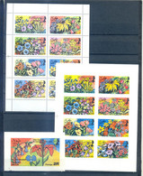 DHUFAR SHEET PERFORED + IMPERFORED + BLOCK FLOWERS - BICENTENNIAL OF UNITED STATES    MNH - Other