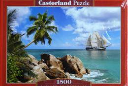 """Puzzle  """"Voiles Au Paradis """" 1500 Pièces!  68cm Sur 47cm Ed. Castorland Neuf * - Non Classificati"""