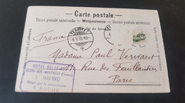 Montreux Et Glion - Charnaux Freres - Stempel Hotel Bellevue Glion Sur Montreux 1902 - Non Classificati
