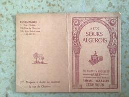 Algérie : Carte De Visite Publicitaire -  ZEGHNOUN , Aux Souks Algérois Alger - Visiting Cards
