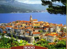 """Puzzle """"Croatie : Korcula"""" 3000 Pièces! 92cm Sur 68cm Ed.Castorland Neuf Sous Cello! - Non Classificati"""
