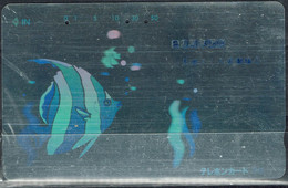 JAPAN 1992 PHONECARDS FISHES SILVER USED VF!! - Pesci
