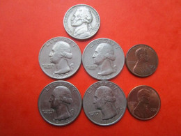 7 Pièces - Monnaie USA - UNITEDSTATES OF AMERICA - Quarter Dollar - LIBERTY - 1965/72/74/87 - BE - Other - America