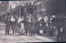 Guerre 14-18, Genève Tramways, Evacués Français Avant Leur Départ Pour Annemasse (2832) - War 1914-18