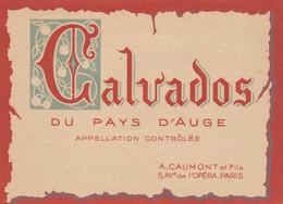 ETIQUETTE CALVADOS DU PAYS D'AUGE - A. CAUMONT Et FILS PARIS - Collections