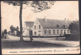 +++ CPA - GHISLENGHIEN - Ath - Entrée De La Commune - Vue Prise De La Route De Gibecq  // - Ath