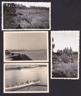 Frankreich Deutsche Besetzung. 2 Fotos LKW-Unfall, 2  Fotos 1940 Boulogne Sur Mer Hafen Und Schnellboot Kriegsmarine. - 1939-45