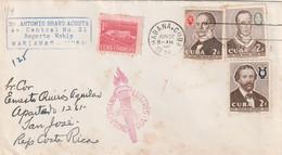 Cuba Célébrités Cubaines  Lettre HABANA 27/6/1958  Pour San José Costa Rica - Covers & Documents