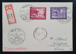 Deutsches Reich 1941, Reko Postkarte MiF METZ Gelaufen GÜNZBURG - Covers & Documents