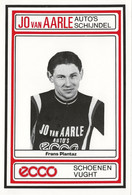 CARTE  CYCLISME FRANS PLANTAZ TEAM JO VAN AARLE 1984 - Ciclismo