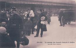 Guerre 14-18, Genève Gare 1915, Passage D' Evacués Français (2843) - War 1914-18