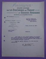 Lettre   24.06.1930 S.A De La Sucrerie De Toury Eure Et Loir  - A Prendre En L Etat Perforée - - 1900 – 1949