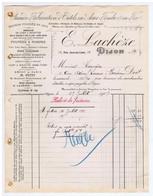 CÔTE D'OR - DIJON - E. LACHEZE - Outils, Clefs, Etaux, Crochet, Etc...17 Rue Jean-de-Cirey - Autres