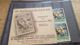LOT555050 TIMBRE DE FRANCE NEUF** LUXE VIGNETTE JEUNESSE CARNET COMPLET RARE - Other