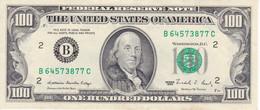 BILLETE DE ESTADOS UNIDOS DE 100 DÓLLARS DEL AÑO 1988 LETRA B CALIDAD EBC (XF) (BANK NOTE) NEW YORK - Billets De La Federal Reserve (1928-...)