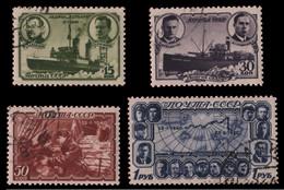 Russia / Sowjetunion 1940 - Mi-Nr. 741-744 Gest / Used - Eisbrecher G. Sedow - Usati