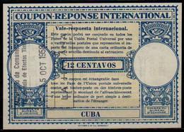 CUBALo15  12 CENTAVOSInternational Reply Coupon Reponse Respuesta Antwortschein IAS O LA HABANA 15.10.58 - Covers & Documents