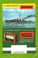 BUVARD : Thomson  Ducretet Thomson  Radio  Escorteur Surcouf - Electricité & Gaz