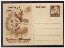 Dt.-Reich (009263) Propaganda Ganzsache P 271 Reichswettkämpfe Der SA In Berlin, Ungebraucht - Enteros Postales
