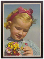 Dt-Reich (009267) AK Kinder Blumen, Verlag Carl Werner Vogtland, Gelaufen Am 13.2.1945 Späte Post!! - Briefe U. Dokumente