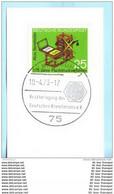 BUND BRD 715 SST Slogan Cachet - Karlsruhe 1 - Reaktortagung Atomenergie 10.04.73 (13686) - Covers & Documents