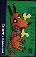 AUSTRALIA 1993 PHONECARD DOGS USED VF!! - Cani