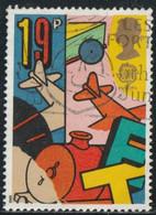 GB 1989 Yv. N°1380 - Europa, Jeux D'enfants - 19p Charrette, Avion, Locomotive - Oblitéré - Gebraucht