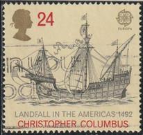 GB 1992 Yv. N°1619 - Europa -  Découverte De L'Amérique Par Christophe Colomb - 24p Caravelle - Oblitéré - Gebraucht