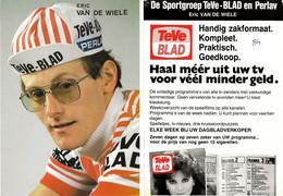 CARTE CYCLISME ERIC VAN DE WIELE TEAM TEVE BLAD 1984 - Radsport