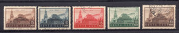 1924. RUSSIA, SOVIET, USSR, 10 YEARS FROM LENIN DEATH, SET OF 5 STAMPS, USED - Used Stamps