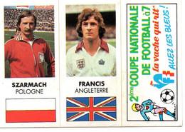 """Autocollant """" La Vache Qui Rit """" 2ème Coupe Nationale Football à 7 ( Szarmach & Francis) - Stickers"""
