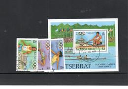 OLYMPICS  - MONTSERRAT - 1988 - SEOUL OLYMPICS  SET OF 4 + SOUVENIR SHEET FINE USED - Summer 1988: Seoul