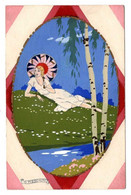 G Meschini - Femme Girl Woman Ca 1930 - Andere Zeichner