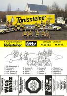 CARTE CYCLISME GROUPE TEAM TONISSTEINER ( VOIR PARTIE ARRIERE ) - Ciclismo