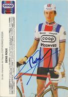 CARTE CYCLISME DENIS ROUX SIGNEE TEAM COOP - HOONVED - Radsport