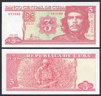 Kuba - Cuba 3 Pesos Banknoten 2004 Pick 127a UNC (1)      (27829 - Andere - Amerika