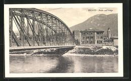 Cartolina Trento, Ponte Sull` Adige - Trento