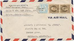 Cuba 1950, Airmail Sent From Havana On 01/10/1950 To Buenos Aires - Covers & Documents
