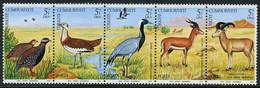 TURKEY 1979 (**) - Mi. 2501-05, The European Wild Life Conservation Year [strip-fives] - Unused Stamps