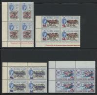 Sierra Leone 1963 Postal Commemorations Issue Complete Set Of 12 In CORNER BLOCKS OF 4 MNH **, Toning, SG 273-284, £160+ - Sierra Leone (...-1960)