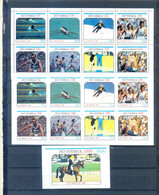 ISO SVERIGE SHEET PERFORED + IMPERFORED + BLOCK OLYMPICS LOS ANGELES 1984 MNH - Estate 1984: Los Angeles