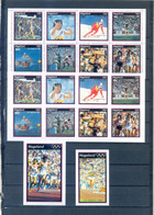 NAGALAND   SHEET PERFORED + IMPERFORED + BLOCK OLYMPICS LOS ANGELES 1984 MNH - Estate 1984: Los Angeles