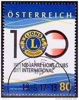 Austria Österreich 2017 100 Jahre Lions International USED / O / GESTEMPELT - 2011-... Afgestempeld