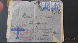 Lettre à Destination De La Suisse Avec Bande De Censure Au Dos - 1923-44: Lettres