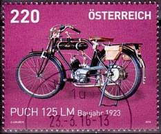 Austria Österreich 2016  Puch 125 LM Baujahr 1923 USED / O / GESTEMPELT - 2011-... Afgestempeld