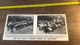1920 PATI Fête Colonie Hindoue Musulman Prière Terrain De La Mosquée De Woking - Zonder Classificatie