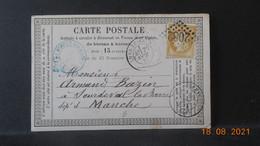 Carte De 1875 à Destination De Sourdeval - 1849-1876: Période Classique