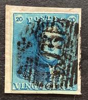 Epaulet OBP 2 - 20c Gestempeld  P115 THIELT - 1849 Epaulettes